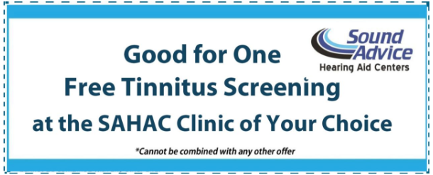 Free Tinnitus Screening in Maryland or Delaware